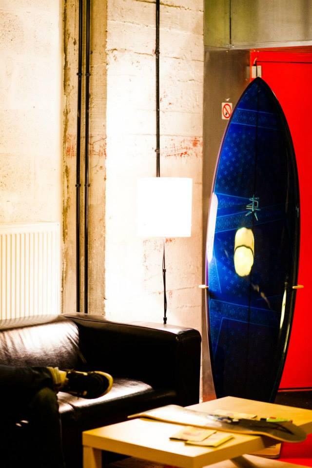 La board Collector... reflétant le cadre.